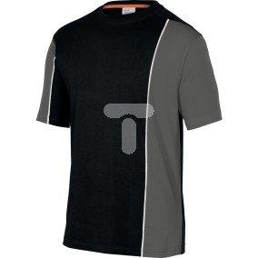 T-shirt dwukolorowy z bawełny (100%) 180 g/m2 pasuje do serii mach 2  kolor czarno-szary rozmiar L CORP  MSTSTNOGT