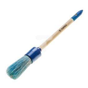 Pędzel owalny akrylowy 2 uchwyt drewniany do farb akrylowych 20B910