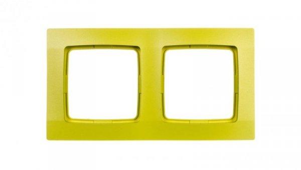 KARO Ramka podwójna limonka R-2S/53