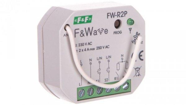 Radiowy podwójny przekaźnik bistabilny - montaż p/t 85-265V AC/DC FW-R2P