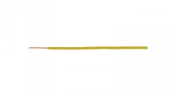 Przewód instalacyjny H07V-U (DY) 1,5 żółty  /100m/