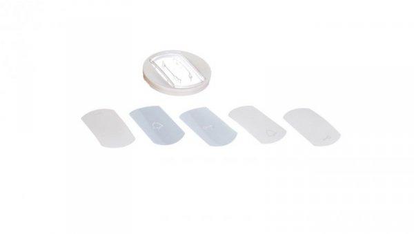 CELIANE Klawisz pojedynczy z etykietą biały 068014