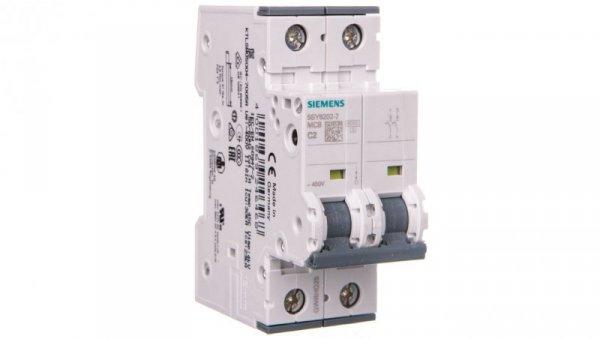 Wyłącznik nadprądowy 2P C 2A 6kA AC 5SY6202-7