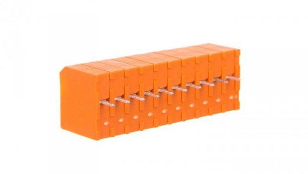 Listwa zaciskowa do płytek drukowanych 10-biegunowa pomarańczowa raster 3,81mm 739-340  /30szt./