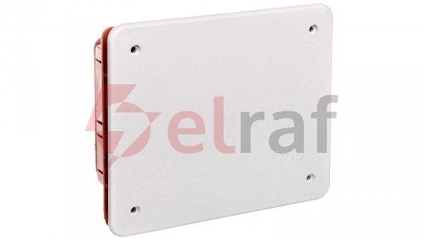 Puszka podtynkowa z pokrywą seria 350 120x100x50 czerwony-biały EC350C2