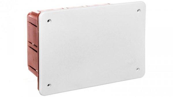 Puszka podtynkowa z pokrywą seria 350 152x100x70 czerwony-biały EC350C4