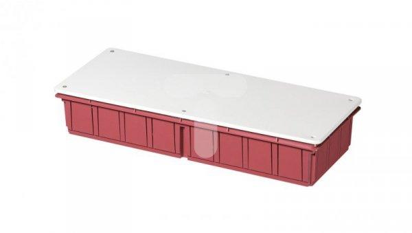 Puszka podtynkowa z pokrywą seria 350 392x152x70 czerwony-biały EC350C8