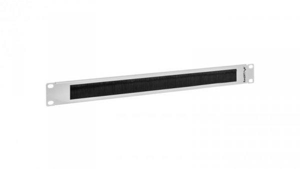 Panel szczotkowy do szafy 19'' 1U szary LANBERG AK-1101-S