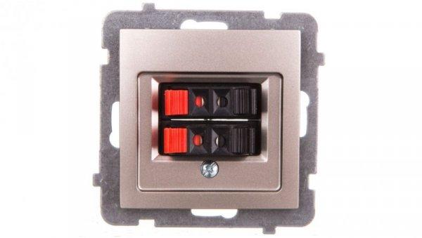 AS Gniazdo głośnikowe podwójne satyna light GG-2G/m/45