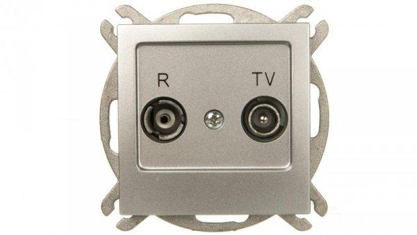 AS Gniazdo antenowe RTV przelotowe 10dB srebro GPA-10GP/m/18