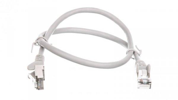 Kabel krosowy patchcord SF/UTP kat.5e CCA szary 0,5m 50143