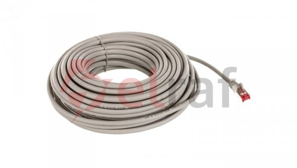 Kabel krosowy patchcord S/FTP (PiMF) kat.6 LSZH szary 20m 50893