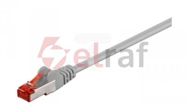 Kabel krosowy patchcord S/FTP (PiMF) kat.6 LSZH szary 30m 50894