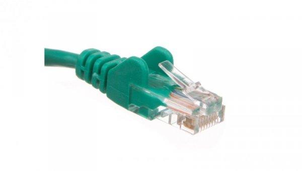 Kabel krosowy patchcord U/UTP kat.5e CCA zielony 2m 68358