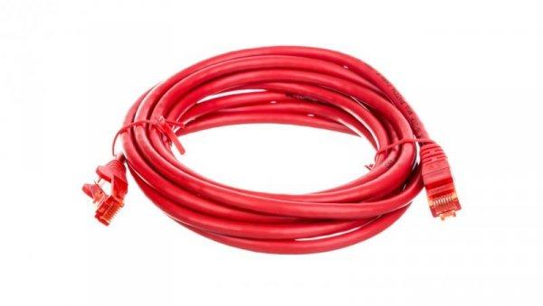 Kabel krosowy patchcord U/UTP kat.6 CCA czerwony 3m 68411