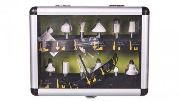 Komplet frezów widiowych trzpień 8 mm 12 szt. plastikowa kasetka do przechowywania 57H210 /12szt./