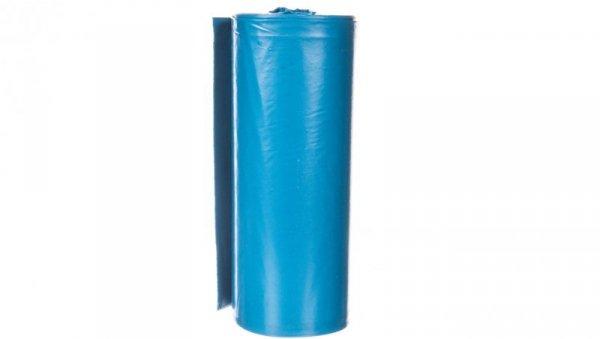 Worki na odpady 120 L niebieskie bardzo mocne wymiary 70x110cm grubość 40 mic folia LDPE 23B258 /10szt./