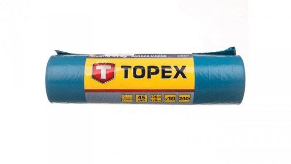 Worki na odpady 240 L niebieskie bardzo mocne wymiary 120x150cm grubość 45 mic folia LDPE 23B259 /10szt./