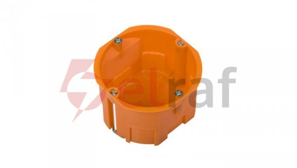 Puszka podtynkowa 60mm regips pomarańczowa P 60KF 31040008 /60szt./
