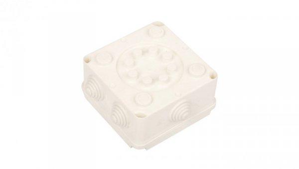 Puszka odgałęźna z zaciskami 5-torowa dla Cu do 4mm2 IP55 biała 118x118x60 PK-2 0221-00