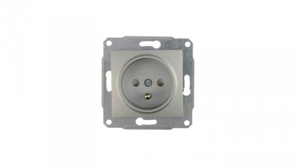 Sedna Gniazdo pojedyncze z/u 16A IP20 aluminium SDN2800160