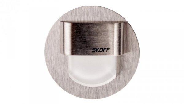 Oprawa LED 0.4W 10V IP20 RUEDA szlif biała 02-01-02-02-0119