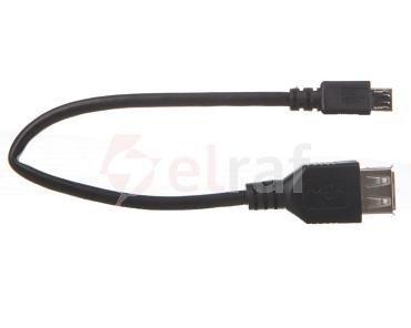 Adapter USB 2.0 High Speed - microUSB 0,2m 95194