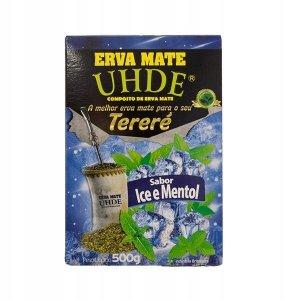 Yerba Mate UHDE Sabor Ice e Mentol 500g