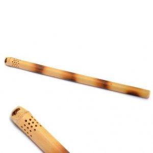 Bombilla bambusowa z cana tacuara z dziurkami