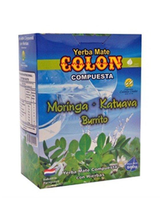 Yerba mate Colon Moringa, Katuava y Burrito - 500g