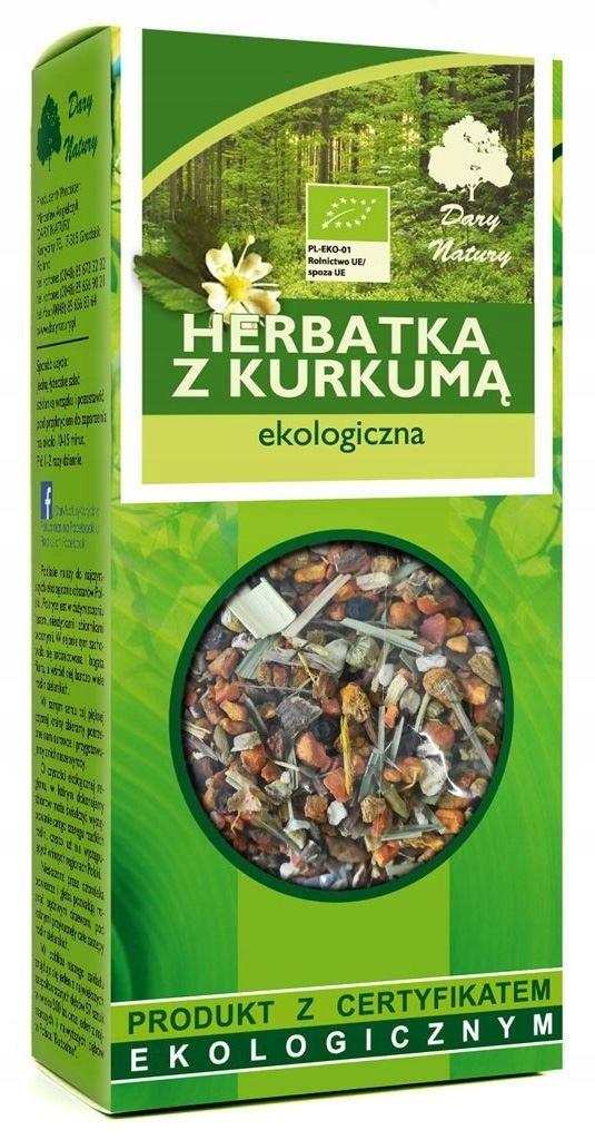 HERBATKA KURKUMA + LUKRECJA BIO 100g DARY NATURY