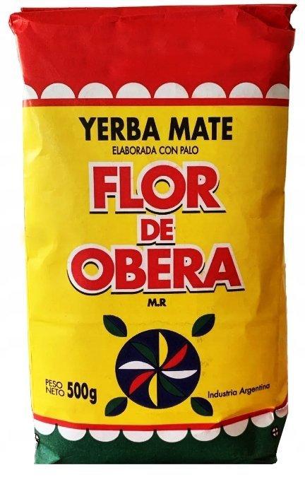 Yerba Mate Flor de Obera Elaborada con Palo 500g