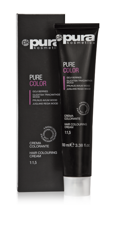 PURA PURE COLOR FARBA DO WŁOSÓW 100ML 7/43 Medium Golden Copper Blond