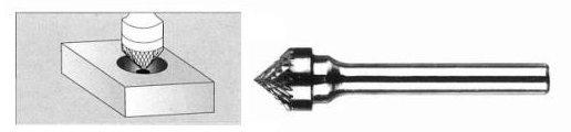 FREZ Z WĘGLIKA SPIEKANEGO STOŻKOWY 12mm / 6mm K1206/C