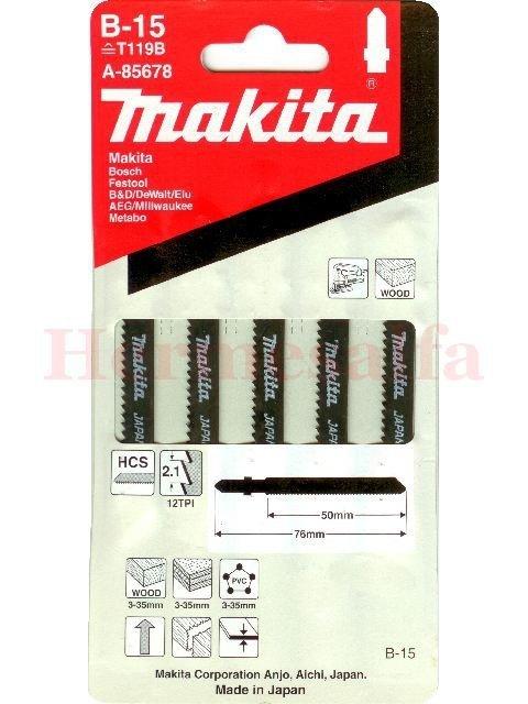BRZESZCZOTY DO WYRZYNAREK B-15 HCS 50mm MAKITA A-85678