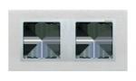 Ramka 2- krotna metalowa inox mat / aluminium