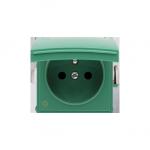 Pokrywa do gniazda wtyczkowego z uziemieniem - do wersji IP44- klapka w kolorze pokrywy antybakteryjny zielony