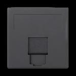 Plakietka teleinformatyczna SIMON 500 keystone pojedyncza płaska uniwersalna z osłoną 50×50mm szary grafit