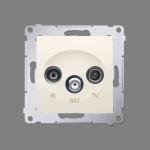 Gniazdo antenowe R-TV-SAT końcowe/zakończeniowe tłum.:1dB kremowy