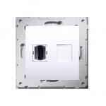 Gniazdo HDMI pojedyncze biały