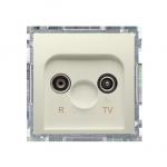 Gniazdo antenowe R-TV zakończeniowe do gniazd przelotowych tłum.:10dB beżowy