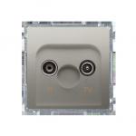 Gniazdo antenowe R-TV zakończeniowe do gniazd przelotowych tłum.:10dB satynowy, metalizowany