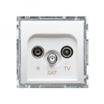 Gniazdo antenowe R-TV-SAT końcowe/zakończeniowe tłum.:1dB biały