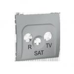 Pokrywa do gniazda antenowego R-TV-SAT aluminiowy, metalizowany