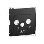 Pokrywa do gniazda antenowego R-TV-SAT grafit mat, metalizowany