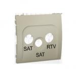 Pokrywa do gniazda antenowego SAT-SAT-RTV platynowy, metalizowany