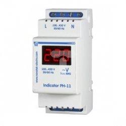 Woltomierz 1-fazowy cyfrowy modułowy 100-450V AC PH-11