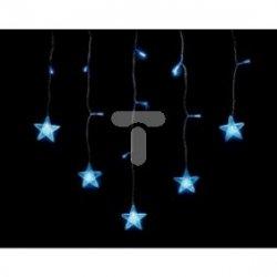 Komplet choinkowy kurtynka 14l LED z dekoracją 1m dekoracji kolor niebieski 1m /7cm 3 x bateria AAA 1,5 V wewnętrzne 10-606