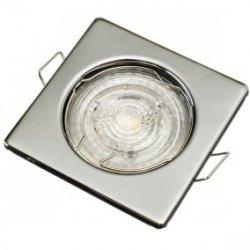 Oprawa sufitowa wpuszczana kwadrat TOPAZ chrom połysk (stalowa) LUX01282