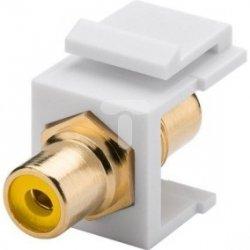 Keystone moduł Cinch/RCA - gniazdo Cinch żółte > gniazdo Cinch 79672